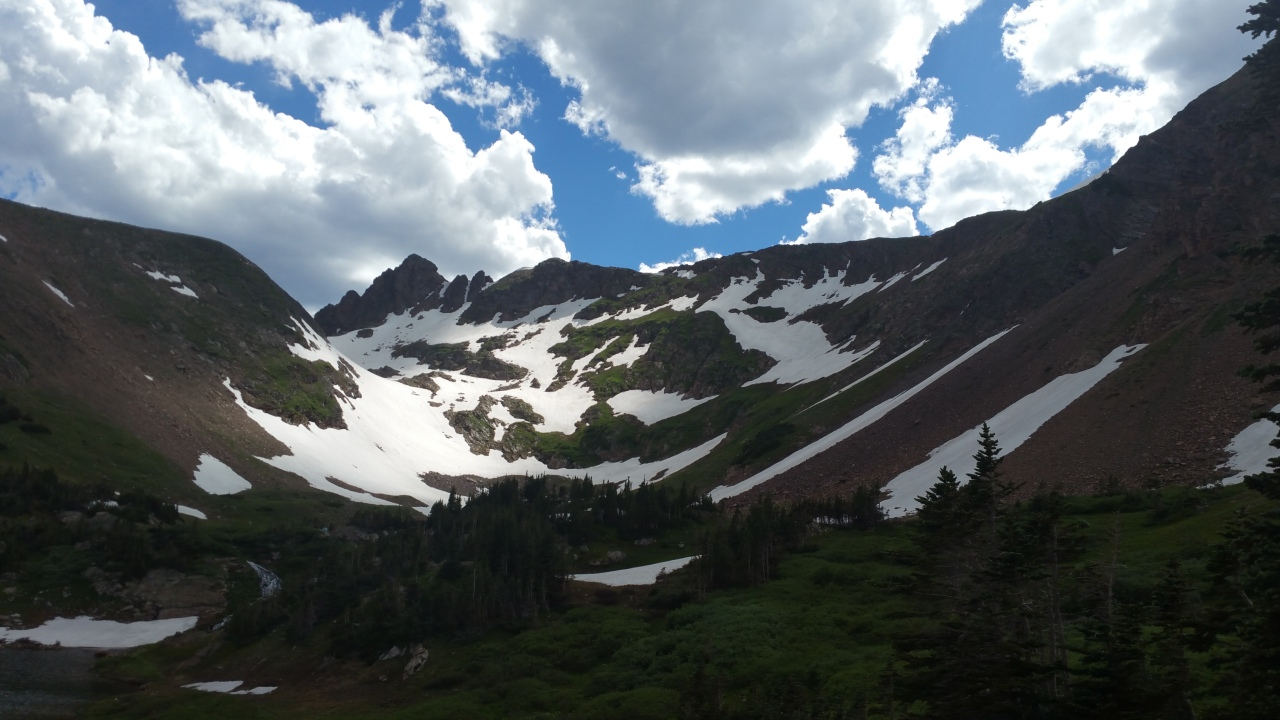 The Continental Divide still has some snow, even in the summer.