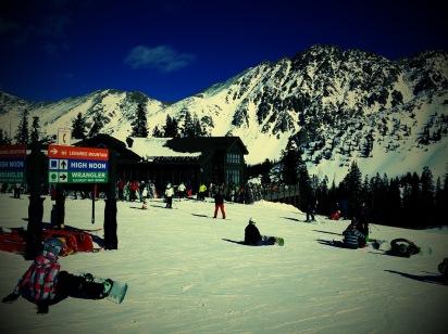 Black Mountain Lodge at Arapahoe Basin ski area in Colorado.