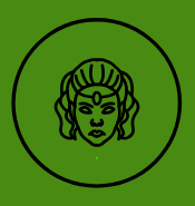 Vagabond Valkyrie Green Warrior Woman Logo
