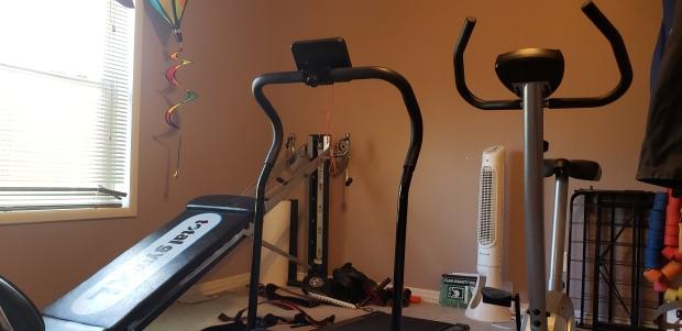 A small home gym