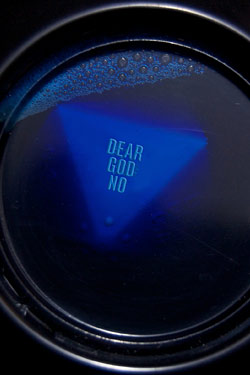 Magic 8 Ball that says