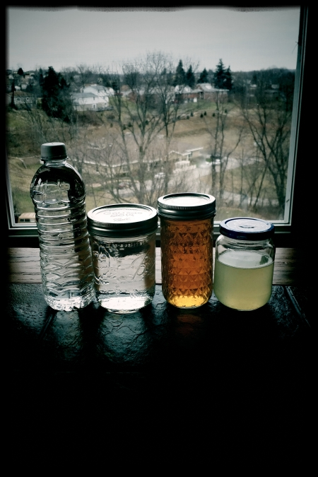 4 bottles of moonshine